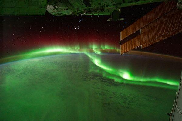 Aurora Boreal fotografiada desde la ISS en 2011