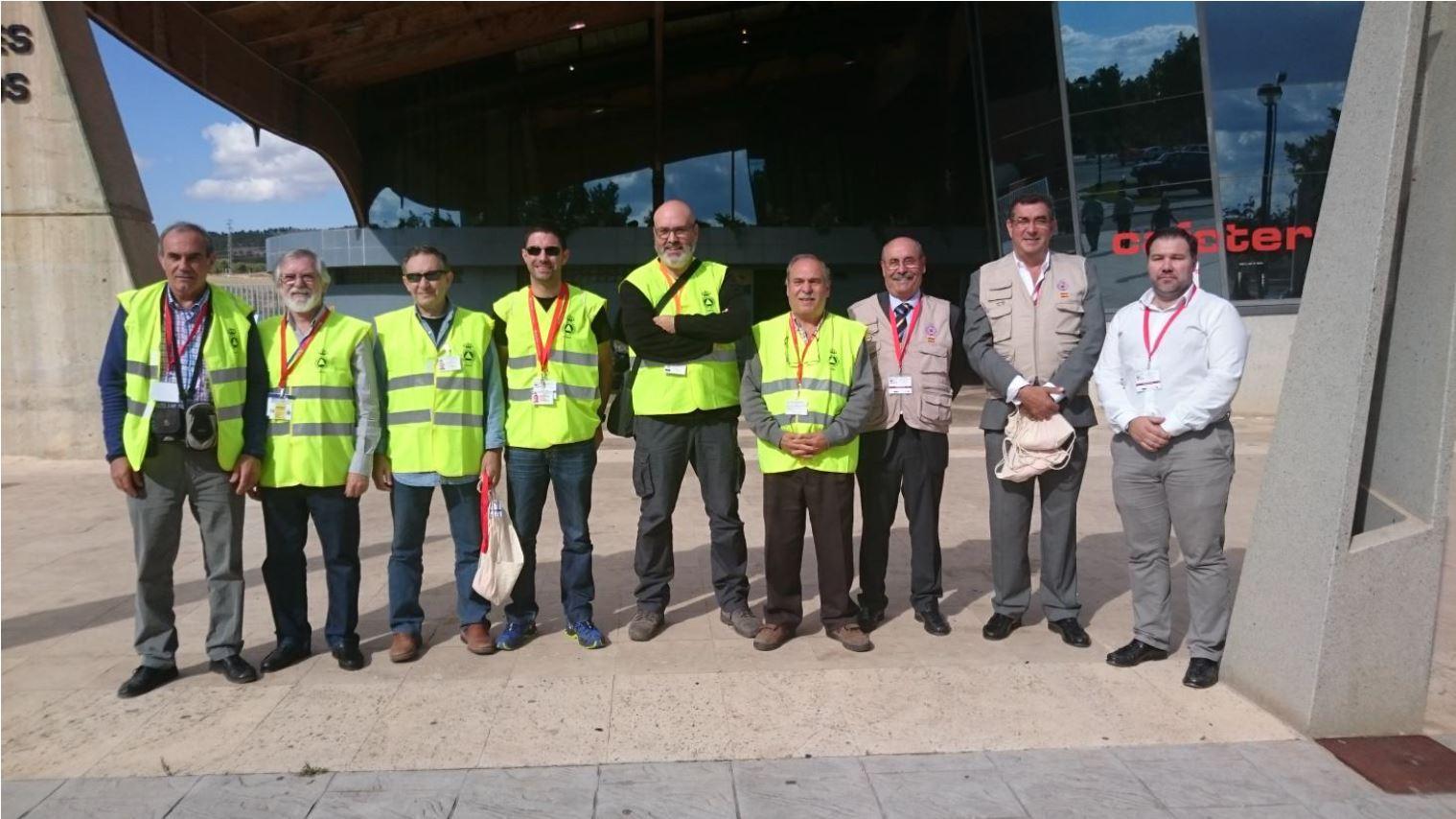 Vicente (T707), Pedro (O1), Jesús (O2), Javier (T708), Sergio (O3), José (T7), Fernando (Jefe de la Unidad de Apoyo de la DGPCE), Alberto  (Área de Informática y Comunicaciones de la DGPCE), Manuel (Jefe de la Unidad de PC en Teruel)